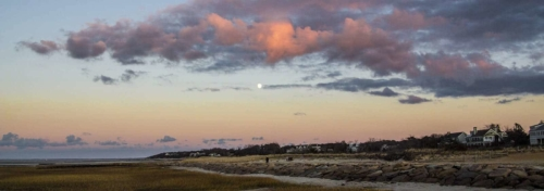 Cape Cod Events-Winter Moon Rise Payne's Creek